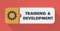 Training and Development Concept in Flat Design. Stock Photography