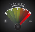 Training level measure meter from low to high concept illustration design Royalty Free Stock Image
