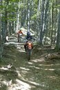 Training for the new year of motor cross on the mountain paths Royalty Free Stock Photo