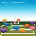 Training For A Running Event Chart Royalty Free Stock Images