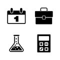 Training. Simple Related Vector Icons