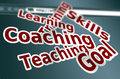 Training skill coaching words concept as background Royalty Free Stock Image