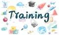 Training Skills Mentoring learning Concept