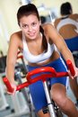 Training on sport equipment Royalty Free Stock Image
