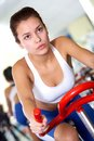 Training on sport equipment Royalty Free Stock Photography