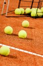 Training tennis balls Royalty Free Stock Image