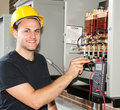Training to be Electrician Royalty Free Stock Photo