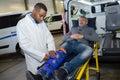 Training to be paramedics Royalty Free Stock Photo