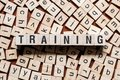 stock image of  Training word concept