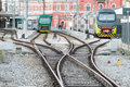 Trains in railway station Royalty Free Stock Photo