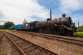 Trains Scrapped Steam Locomotives Royalty Free Stock Images