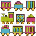 Trains seamless pattern Royalty Free Stock Photos