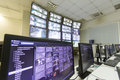 Trains surveillance room Royalty Free Stock Photo