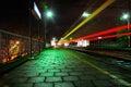 Trainstation At Night