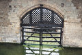 Traitors gate tower of london uk view the from inside the castle Stock Photography