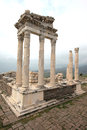 Trajan building acropolis pergamon turkey Stock Image