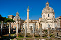 The Trajan Column, Forum, Rome, Italy. Royalty Free Stock Photo
