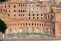 Trajan forum market markets complex of ruins in rome Royalty Free Stock Photos