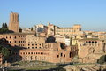 Trajan forum in rome the italy Stock Photos