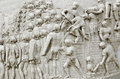 Trajan s column detail the roman emperor is addressing to his army from the replica at display at the romanian national Stock Image