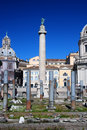 Trajan's Column in Rome Royalty Free Stock Photo