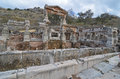 Trajan s fountain dedicated to the ancient roman emperor at ephesus turkey Royalty Free Stock Photography