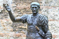 Trajan Statue Royalty Free Stock Photo