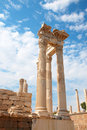 Trajan temple in Pergamon Turkey Stock Photography