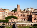 Trajans market rome view of and roman forum italy Royalty Free Stock Photography
