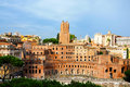Trajans markets a general view of in rome italy Royalty Free Stock Photos