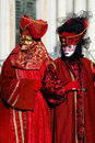 Trajes Venetian do carnaval Foto de Stock Royalty Free