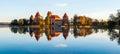Trakai castle fall season Royalty Free Stock Photo