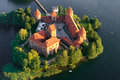 Trakai castle in Lithuania Stock Image