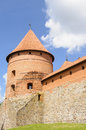Trakai castle lithuania europe round tower and wall of the of Stock Photo