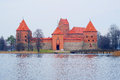 Trakai castle lithuania november island in is a museum and a cultural center Stock Photography