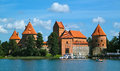 Trakai castle in lithuania th century Royalty Free Stock Image