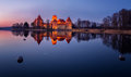 Trakai Castle at night Royalty Free Stock Photo