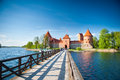Trakai castle vilnius apr island on april in vilnius lithuania is one of the most popular Royalty Free Stock Image