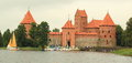 Trakai castle the water in lithuania Stock Images