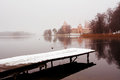 Trakai castle in winter with snow Stock Images