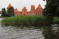 Trakai island castle the in lithuania Royalty Free Stock Image