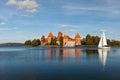 Trakai island castle in lithuania eastern europe Stock Photography
