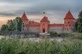 Trakai Island Castle in Lithuania next to Vilnius Royalty Free Stock Photo