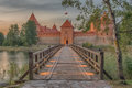 Trakai Island Castle in Lithuania next to Vilnius Royalty Free Stock Photo