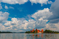 Trakai island castle near vilnius lithuania Stock Images
