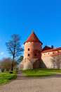 Trakai, Lithuania: tower of a medieval castle Stock Photos