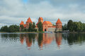 Trakai old castle in lithuania Stock Images