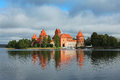 Trakai old castle in lithuania Royalty Free Stock Image