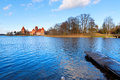 Trakai: view of the medieval castle Stock Photography