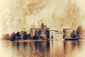 Trakai vintage island castle lithuania Stock Images